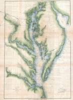 Vintage Map of The Chesapeake Bay (1873)