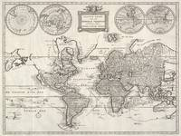Vintage Map of The World (1786)