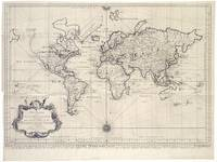 Vintage Map of The World (1750)