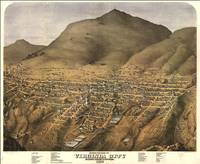 Vintage Pictorial Map of Virginia City Nevada