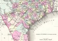 Vintage Map of Coastal Texas (1855)