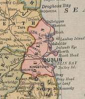 Vintage Map of Dublin Ireland (1883)