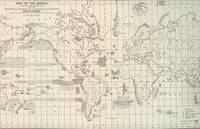 Vintage Map of The World Whaling Grounds (1880)