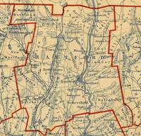 Vintage Map of Hartford County CT (1846)