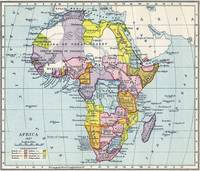 Vintage Map of Africa (1897)