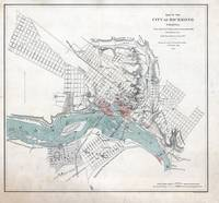 Vintage Map of Richmond Virginia (1864)