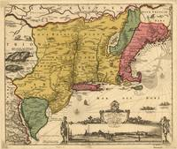 Vintage Map of New England (1685)