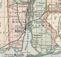 Vintage Map of Mobile Alabama (1891)