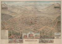 Vintage Pictorial Map of Prescott Arizona (1885)