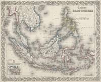 Vintage Map of Indonesia and The Philippines