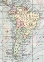 Vintage Map of South America (1901)