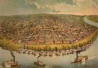 Vintage Pictorial Map of St. Louis (1859)