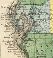 Vintage Map of Tampa Florida (1870)