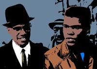 MALCOM X AND CASSIUS CLAY