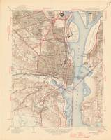 Vintage Map of Alexandria Virginia (1945)