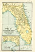 Vintage Map of Florida (1891)