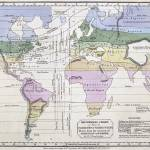 """Vintage World Climate Map (1823)"" by Alleycatshirts"