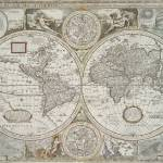 """Vintage Map of The World (1651)"" by Alleycatshirts"