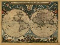 Vintage Map of The World (1664)