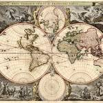 """Vintage Map of The World (1690)"" by Alleycatshirts"