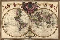 Vintage Map of The World (1720)