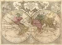 Vintage Map of The World (1775) 3