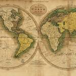 """Vintage Map of The World (1795) 2"" by Alleycatshirts"