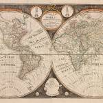 """Vintage Map of The World (1799) 5"" by Alleycatshirts"