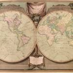 """Vintage Map of The World (1808)"" by Alleycatshirts"