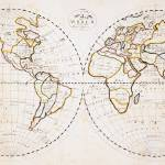 """Vintage Map of The World (1811) 2"" by Alleycatshirts"