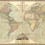 """Vintage Map of The World (1826)"" by Alleycatshirts"