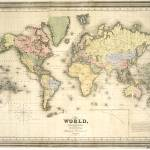 """Vintage Map of The World (1840)"" by Alleycatshirts"