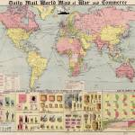 """Vintage World Mail Correspondence Map (1917)"" by Alleycatshirts"