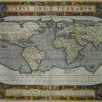 """Vintage Map of The World (1595) 2"" by Alleycatshirts"