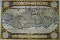 Vintage Map of The World (1595) 2