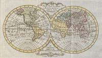 Vintage Map of The World (1795)