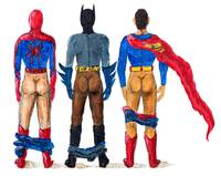 Super Whoroes Erotic Heroes Superman Batman Spider