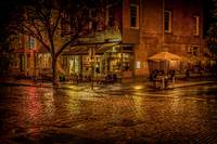 Rain On The Cobblestones Of Greenwich Village