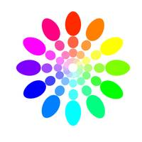 Egg Shaped Color Wheel in White
