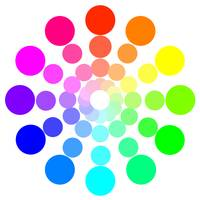 Simple Dotted Color Wheel in White
