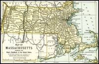Massachusetts Antique Map 1891