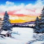 """Winter - Cabin in the Woods"" by galina"