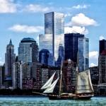 """Schooner Seen From Liberty State Park"" by susansartgallery"