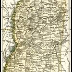 """Mississippi Antique Map 1891"" by WilshireImages"