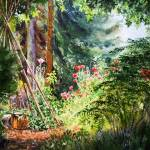 """Landscape With Poppy Flower Garden"" by IrinaSztukowski"