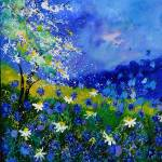 """blue wild flowers 676110iv"" by pol"