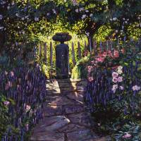 SHADED GARDEN Art Prints & Posters by David Lloyd Glover