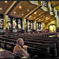 INTERIOR OF ST. Athanasius  Church Art Prints & Posters by frank reginella