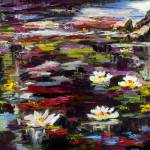 """Impressionist Lily Pond Black Water Wetland"" by GinetteCallaway"