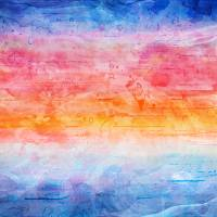 """Digital Sunrise Seascape Abstract Painting b"" by Ricardos Creations"